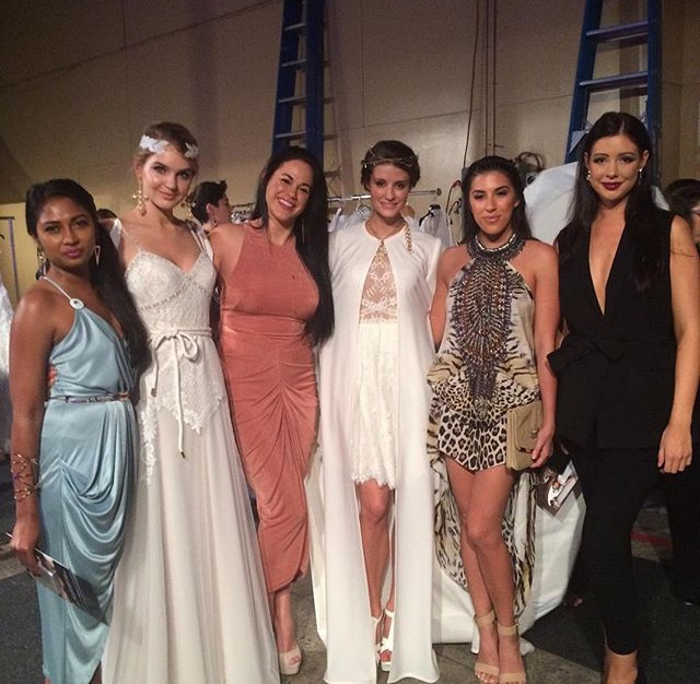 The 2015 Qld Bachelorettes backstage at MBFF.