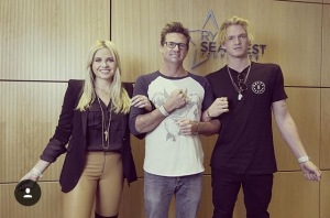 Angie and Brad Simpson with children Cody, Alli and Tom
