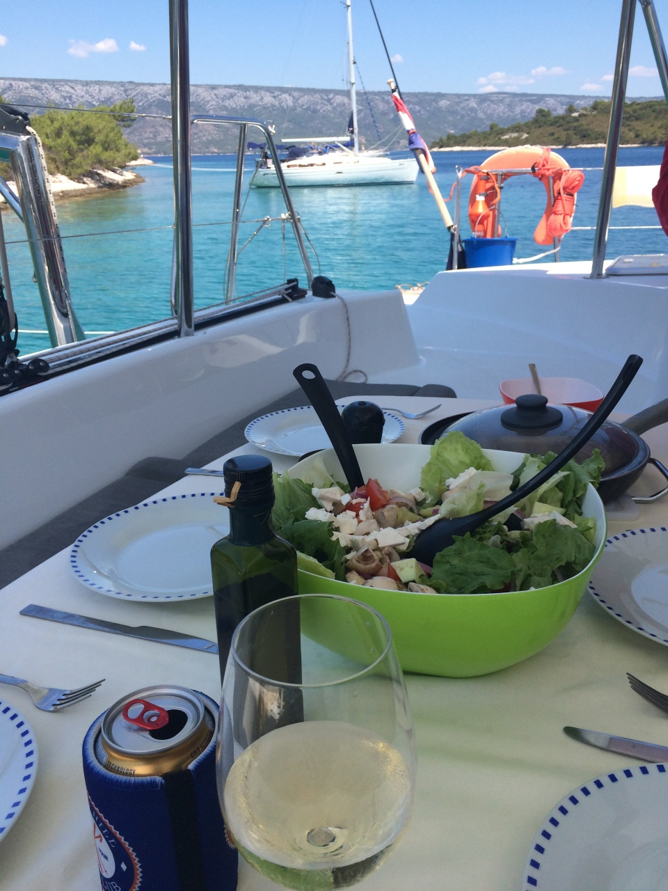 One of our lunches on board 'MuMu'